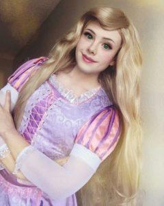 guy transforms into disney princess