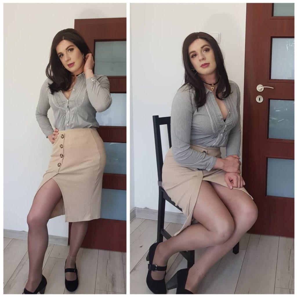 Emilia Crossdresser in cute outfit
