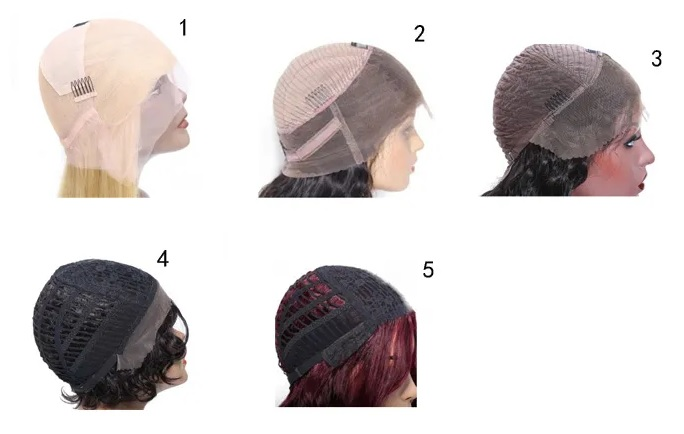 Types of hair wig cap