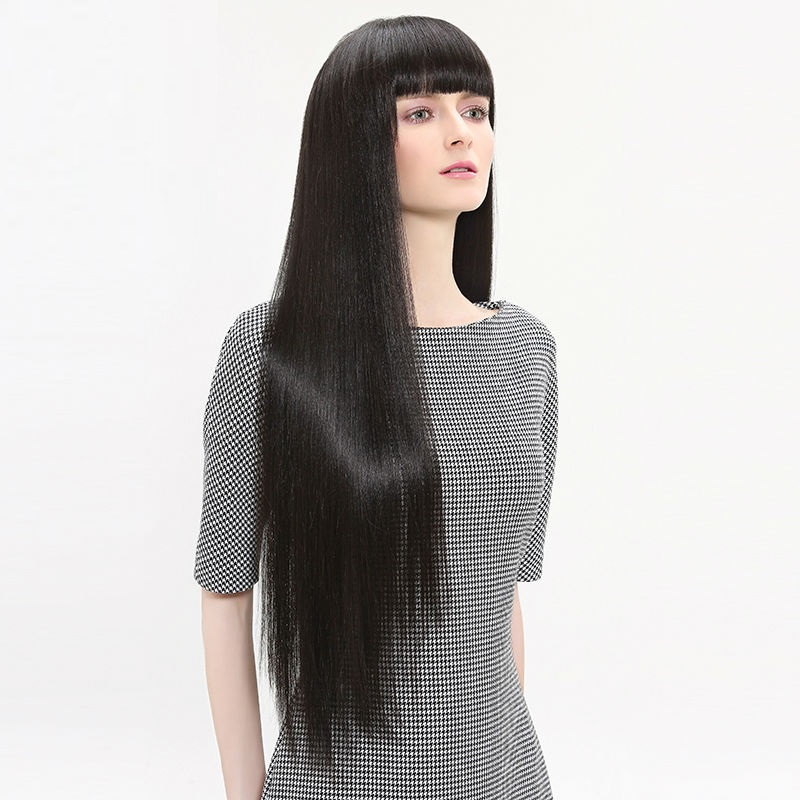 blended hair wig