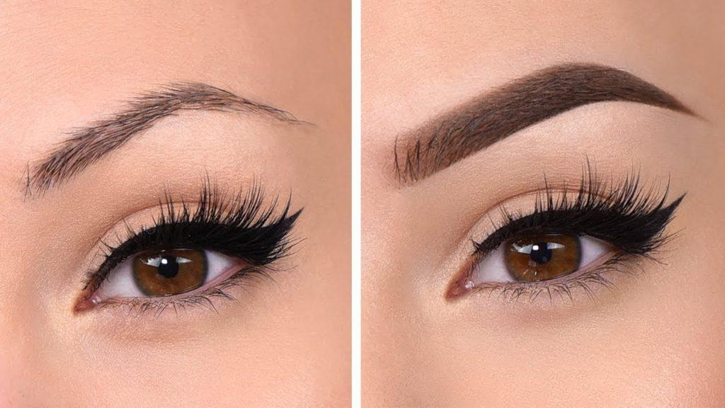 eyebrows transformation