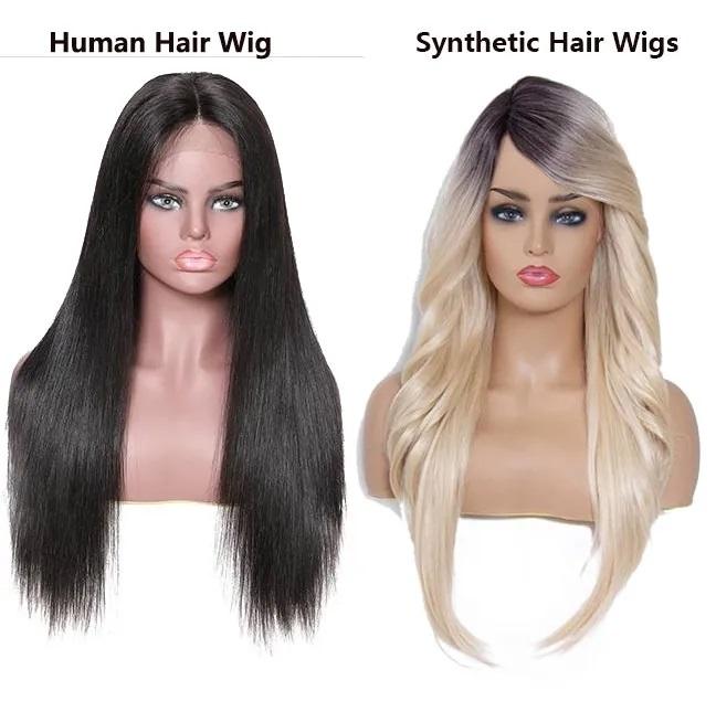 human hair wig vs Synthetic hair wigs