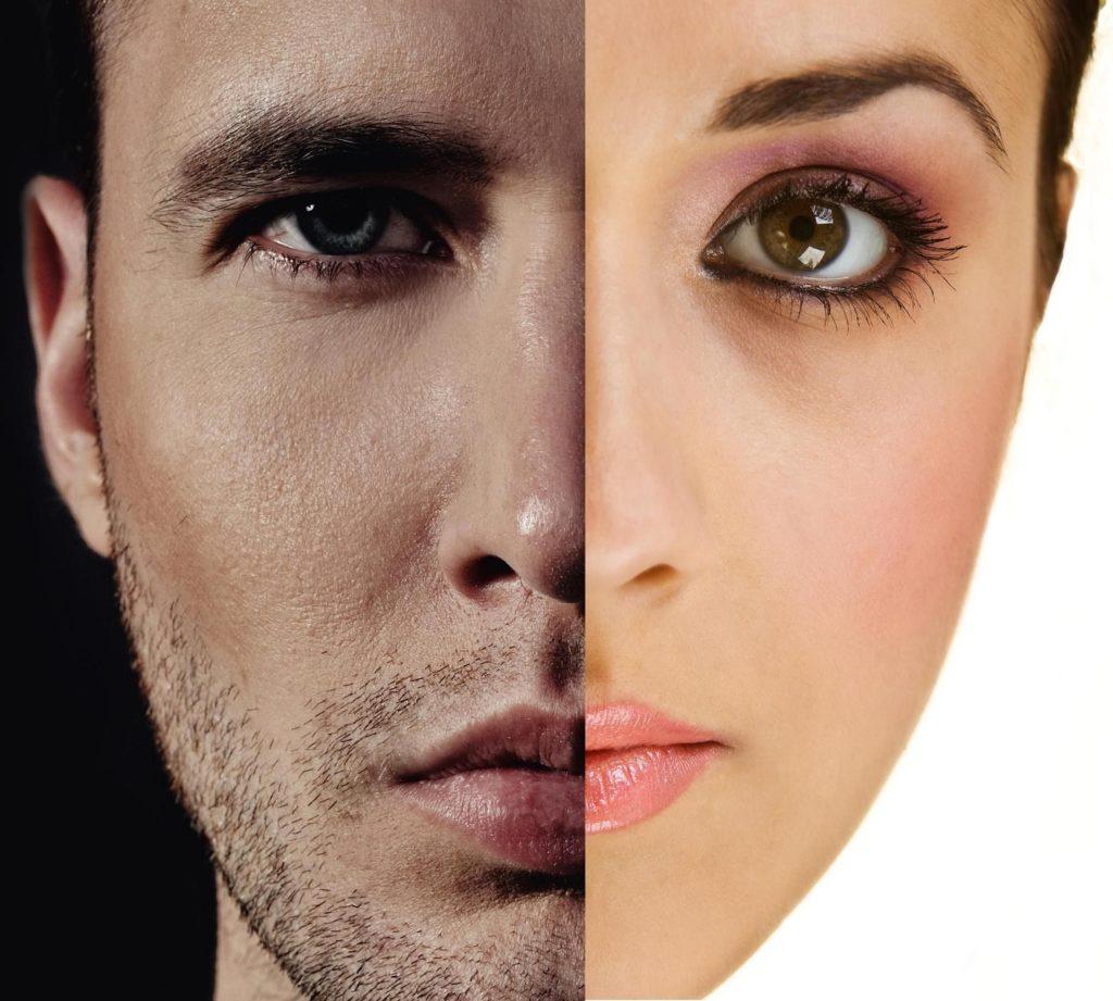 man vs woman eyebrows