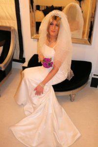 Dressed as bride