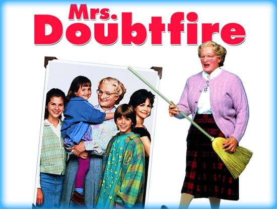 crossdressing in movie - mrsdoubtfire