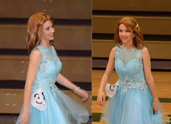 Boy Dressed as Girl For Womanless Beauty Pageant