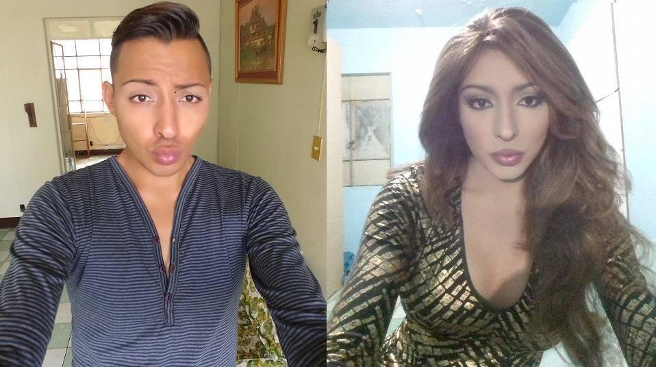 boy to girl makeup transformation 17