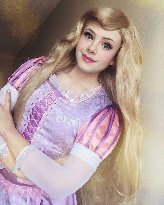 boy to Disney princess