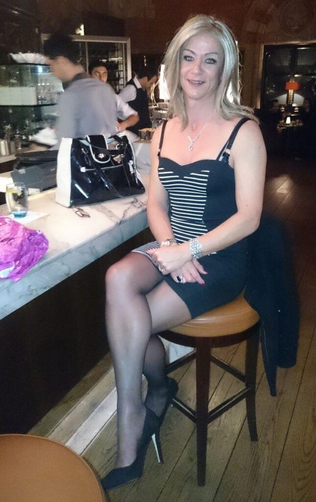 lovely crossdresser in public