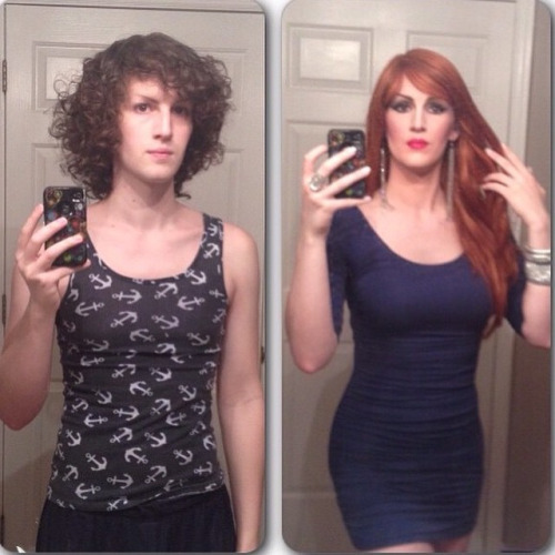 Crossdressing - Before and After