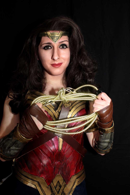 TJC Cosplays as Wonder Woman