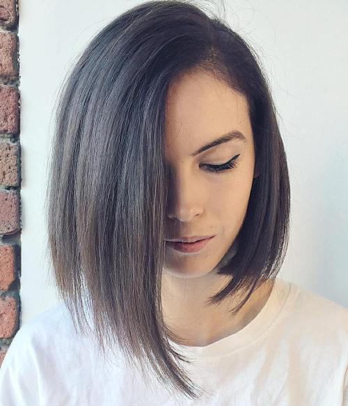 asymmetrical hairstyle