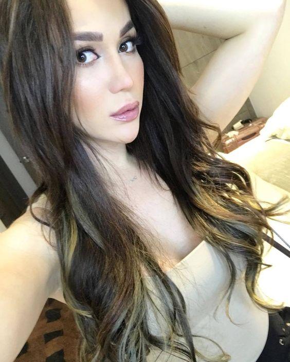long feminine hair style