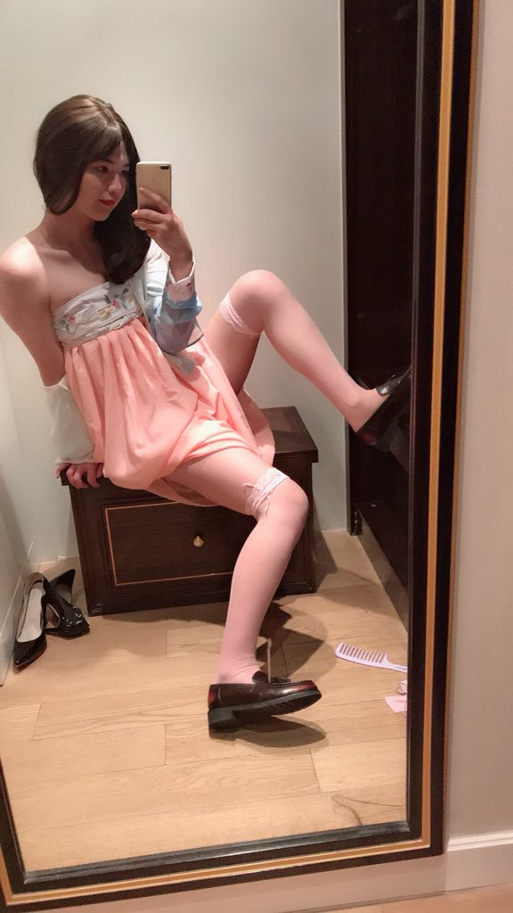 crossdressing in room