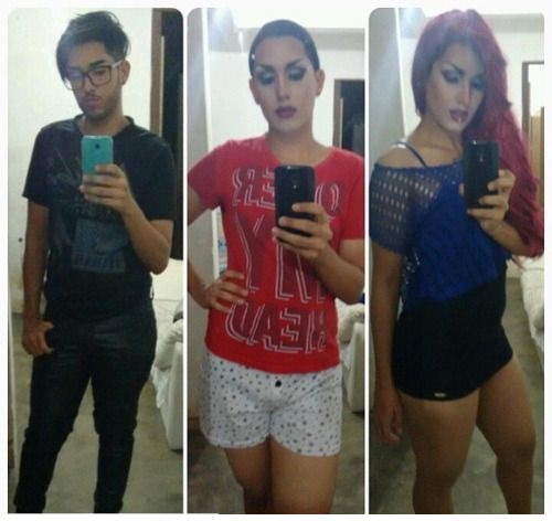 Crossdresser Before and After Transformation Photo Gallery
