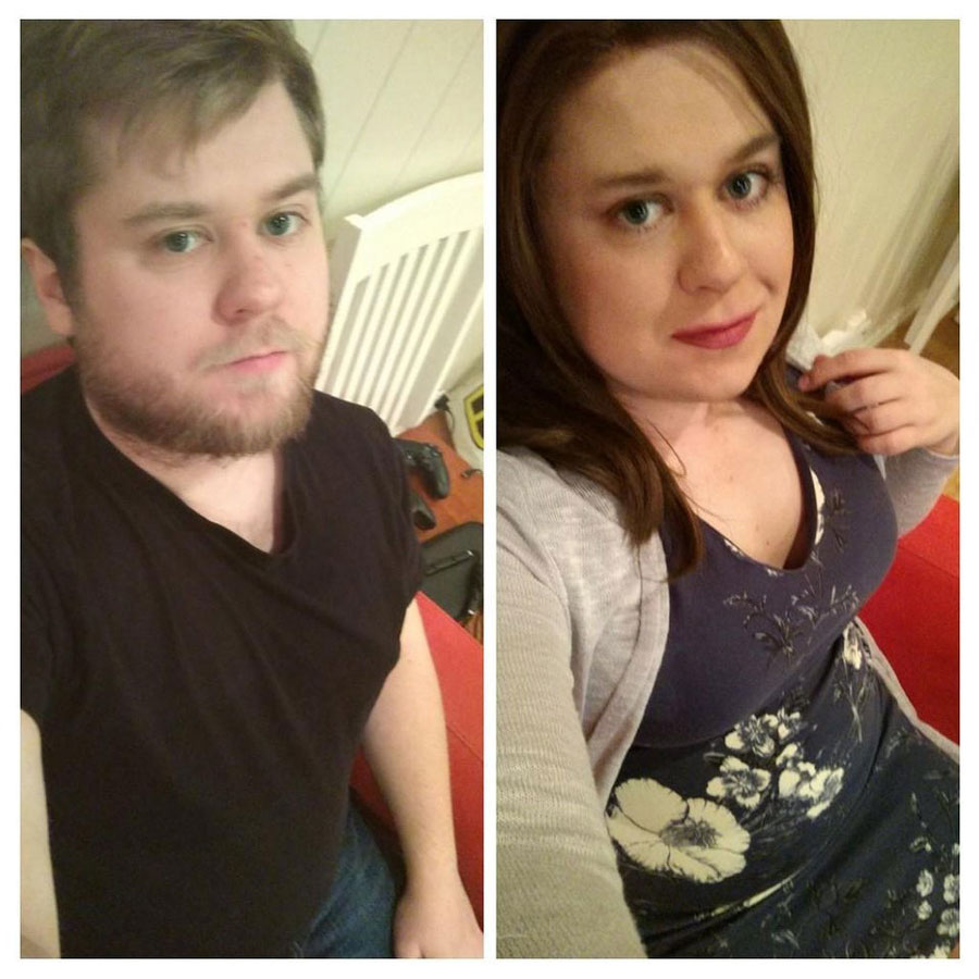 crossdressing before and after