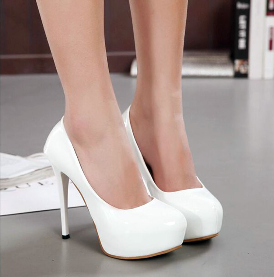 white pumps heels