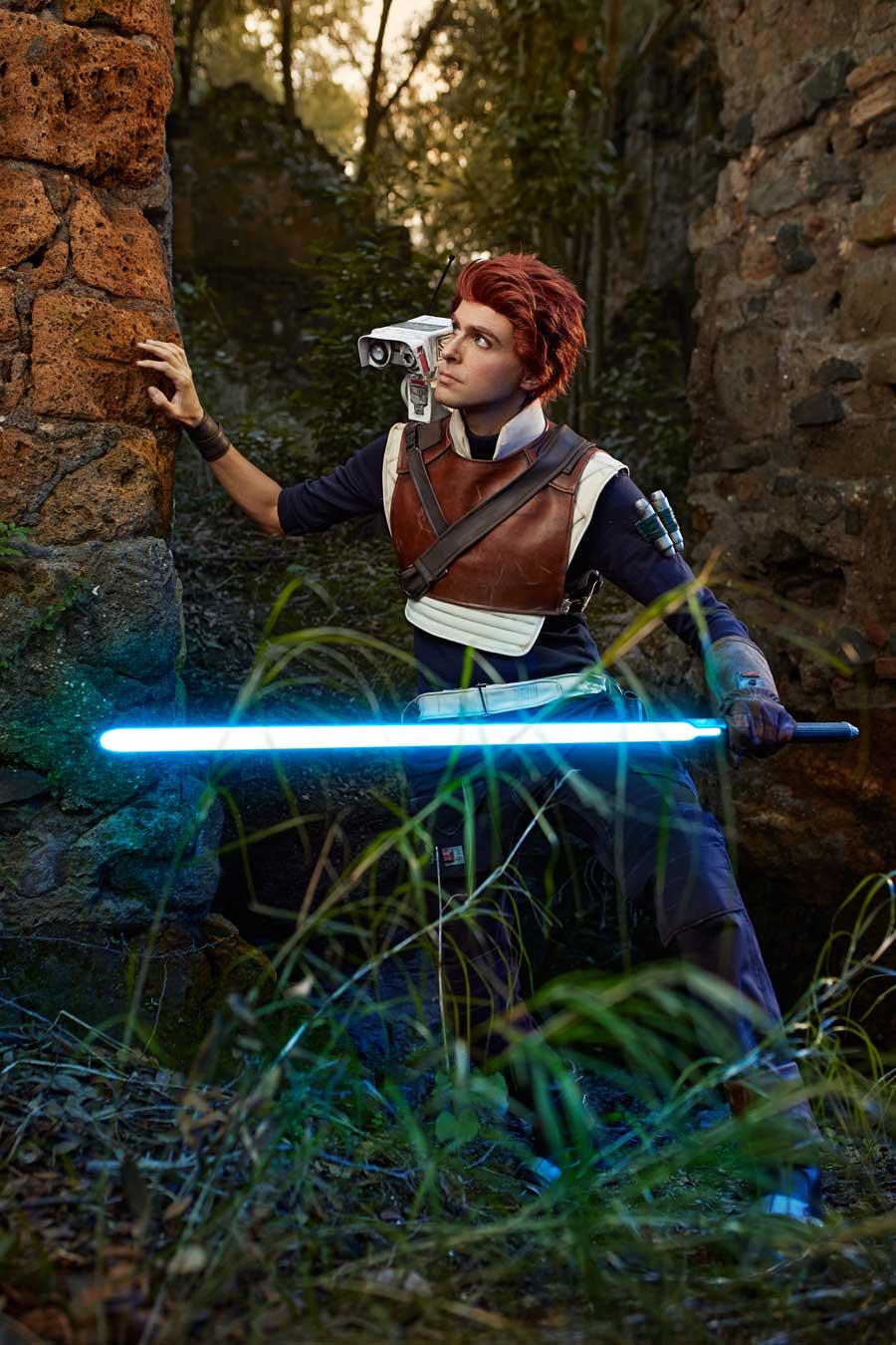 Cosplaying as Cal Kestis from Star Wars Jedi Fallen Order