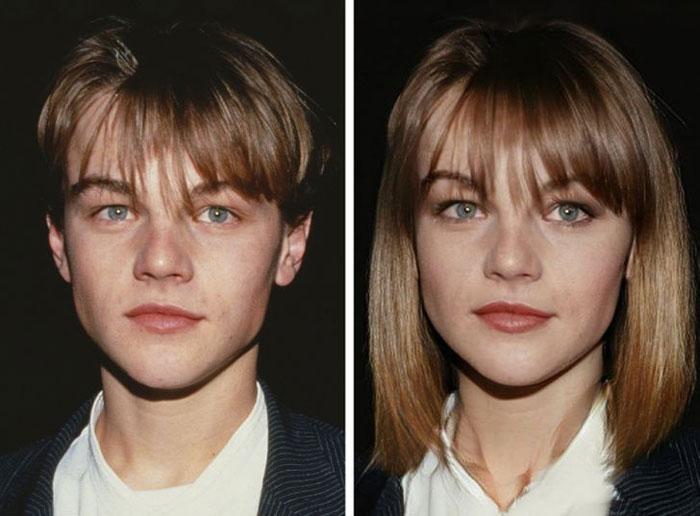 Leonardo DiCaprio as woman