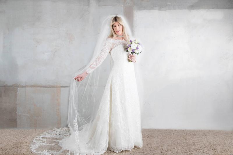 Tina crossdressing as bride