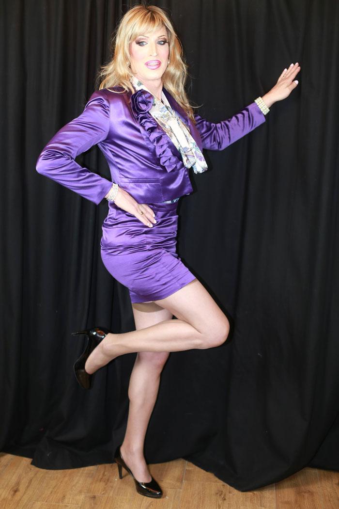 Crossdresser Tina in business look