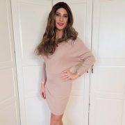 Beautiful Crossdresser Victoria in pink dress and heels
