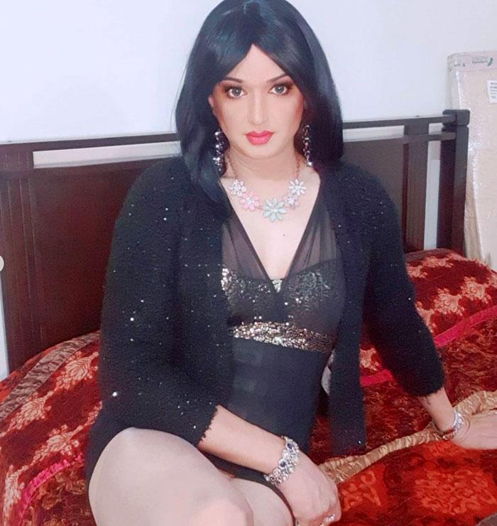 Beautiful Indian crossdresser