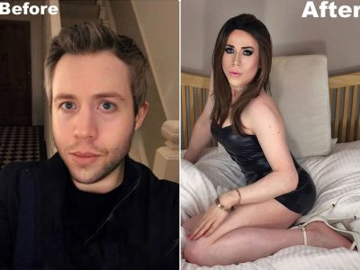 Crossdressing before and after photos