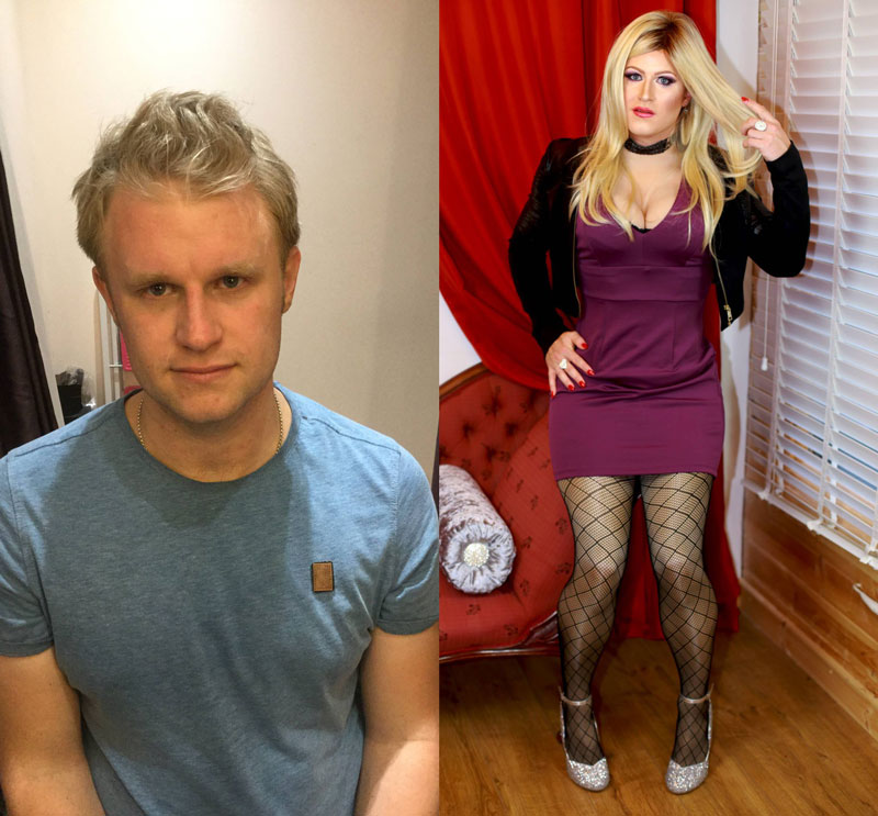 Crossdressing Before and After Transformation
