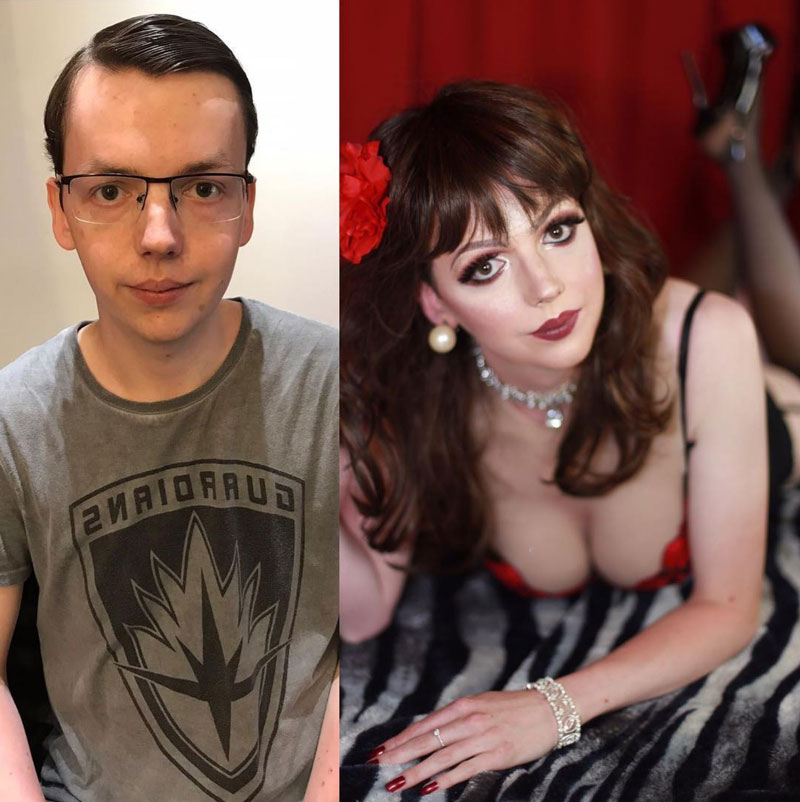 Crossdressing: Before and After Transformation photo